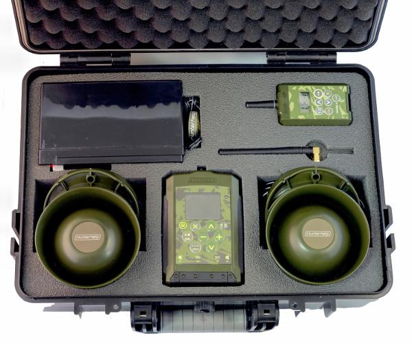 Электронный манок Hunterhelp PRO 3 в кейсе, 2 динамика Hunterhelp Альфа